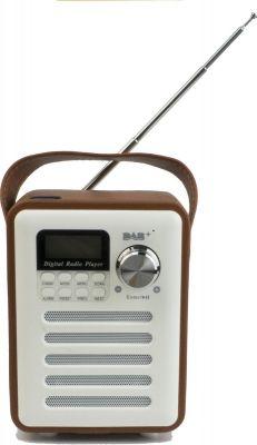 Leejun - DAB+ BT-H6 - Digitaal all-in one portable wekker/muziek systeem met Bluetooth - (steen) Rood