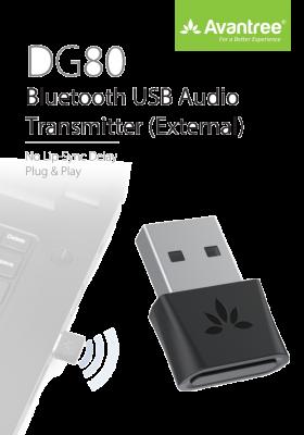 Avantree - DG80 - Bluetooth 5.0 USB Audio Adapter (Audio Only)
