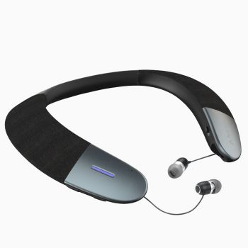 Avantree - Torus (NB05) - Superb HD Quality Wearable Speaker, Retractable Earbuds, Light Weight, aptX Low Latency, DSP with 3D Surround Sound