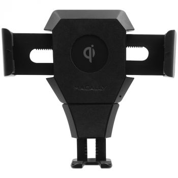Car cup mount phone holder w. 10W Qi charger