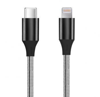 Stainless Steel Type C to Lightning Charging Cable