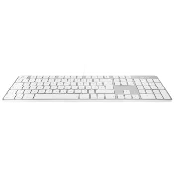 Slim USB keyboard - White/Alu - German