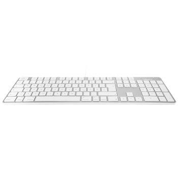 Slim USB keyboard - White/Alu - German