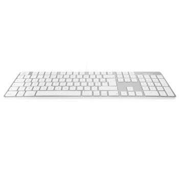 Slim USB keyboard - White/Alu - French