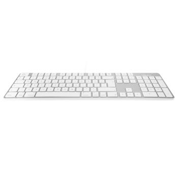 Slim USB keyboard - White/Alu - British English